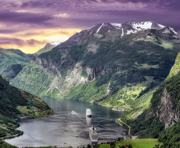 Incredible view of Norwegian fjords