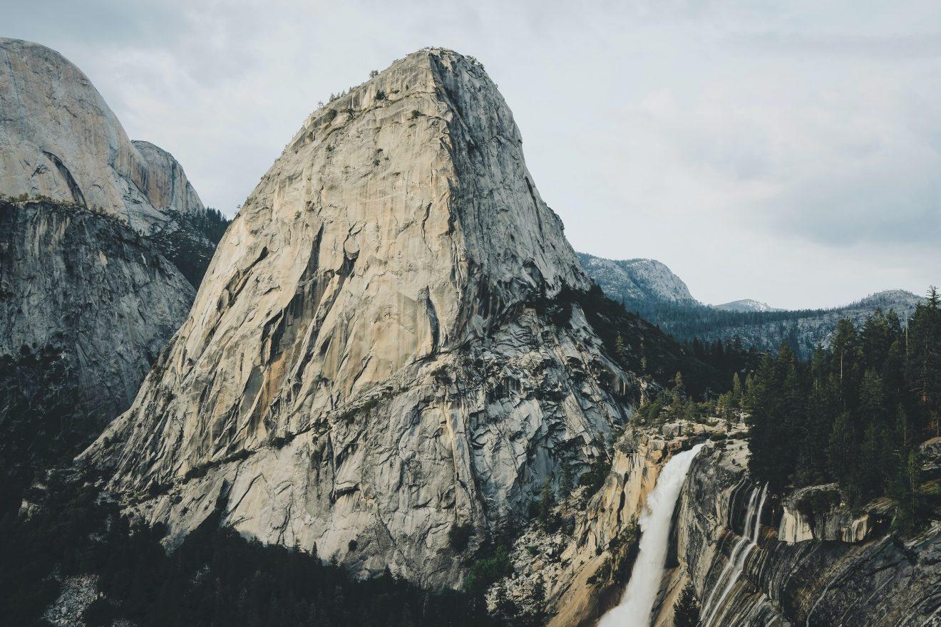 nevada falls in yosemite