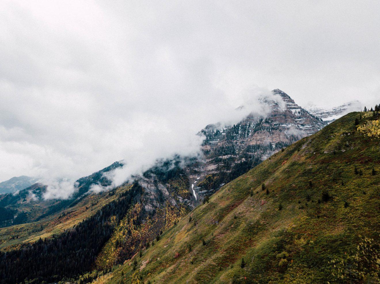 Mount Timpanogos, Wasatch Range near Provo, UT