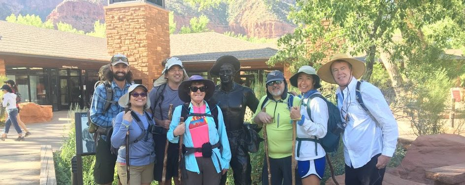 Wildland Trekking hikers zion