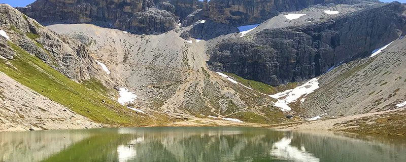 Alpine lake with mountains