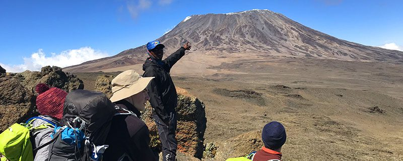 Trekkers and Guides on Kilimanjaro