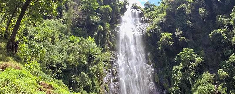 Waterfall at the base of Kilimanjaro