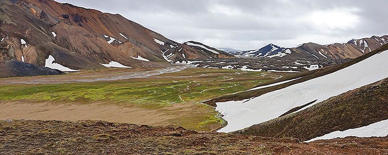 Icelandic landscape with snow
