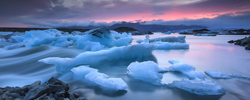 Icelandic glacier and water