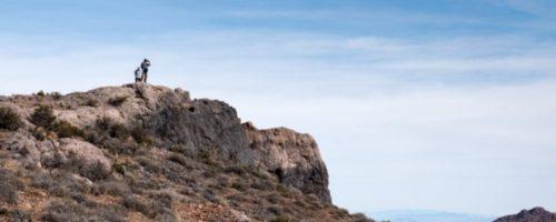 Hiker overlooking thimble