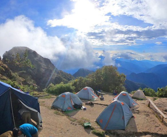 Tents on Inca Trail