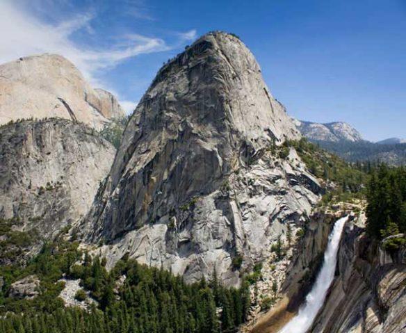 Rushing waterfall in Yosemite