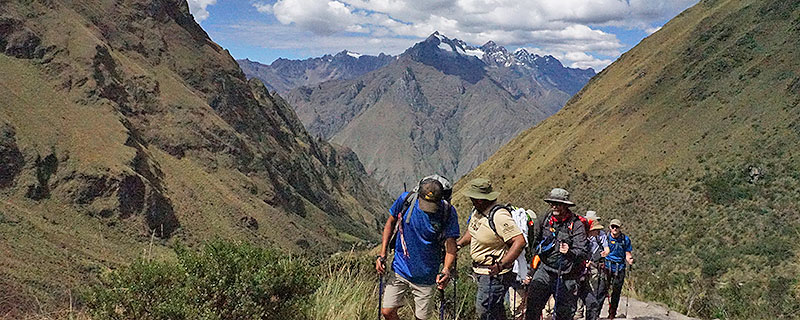 Hikers on the Inca Trail in Peru