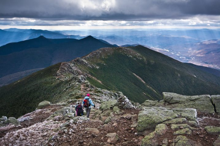 Franconia Ridge is a winter hike without snowshoes in New Hampshire