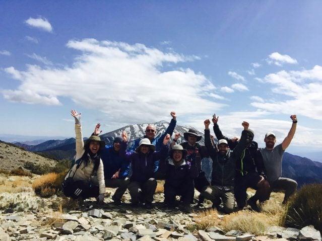 Group at Wildrose Peak Summit, DVNP