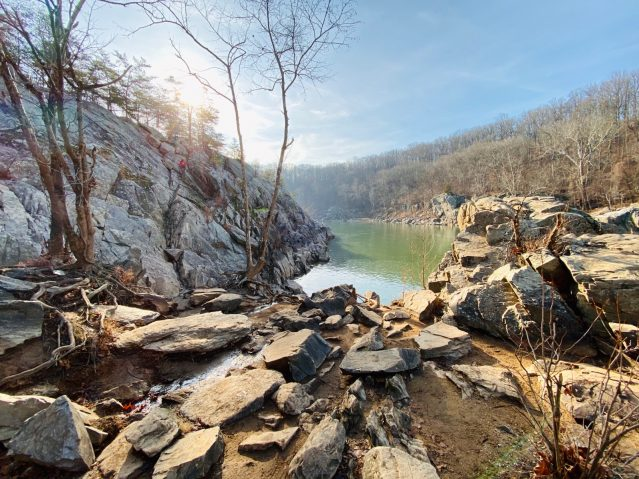 Billy Goat Trail in the winter hiking