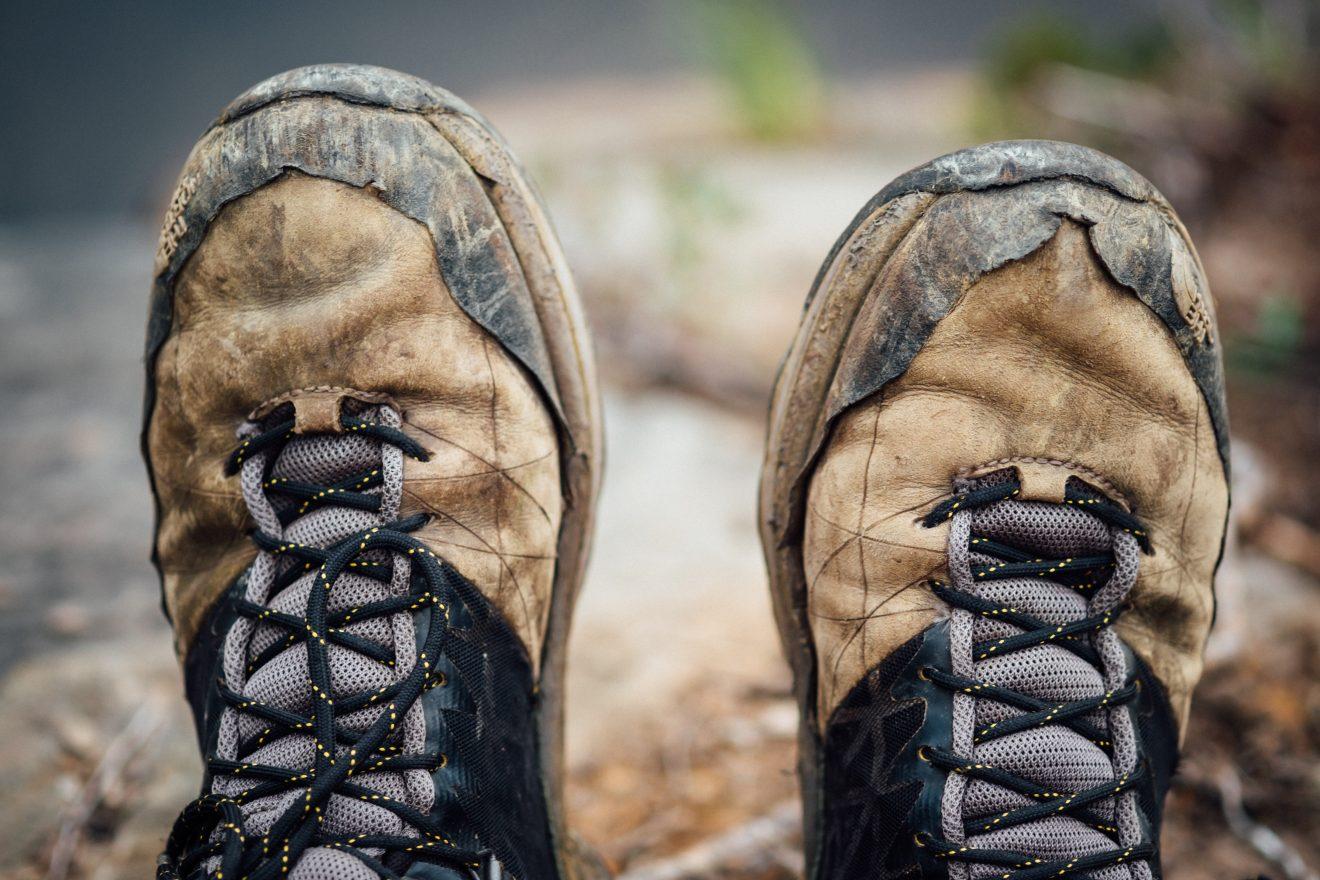 broken in hiking boots