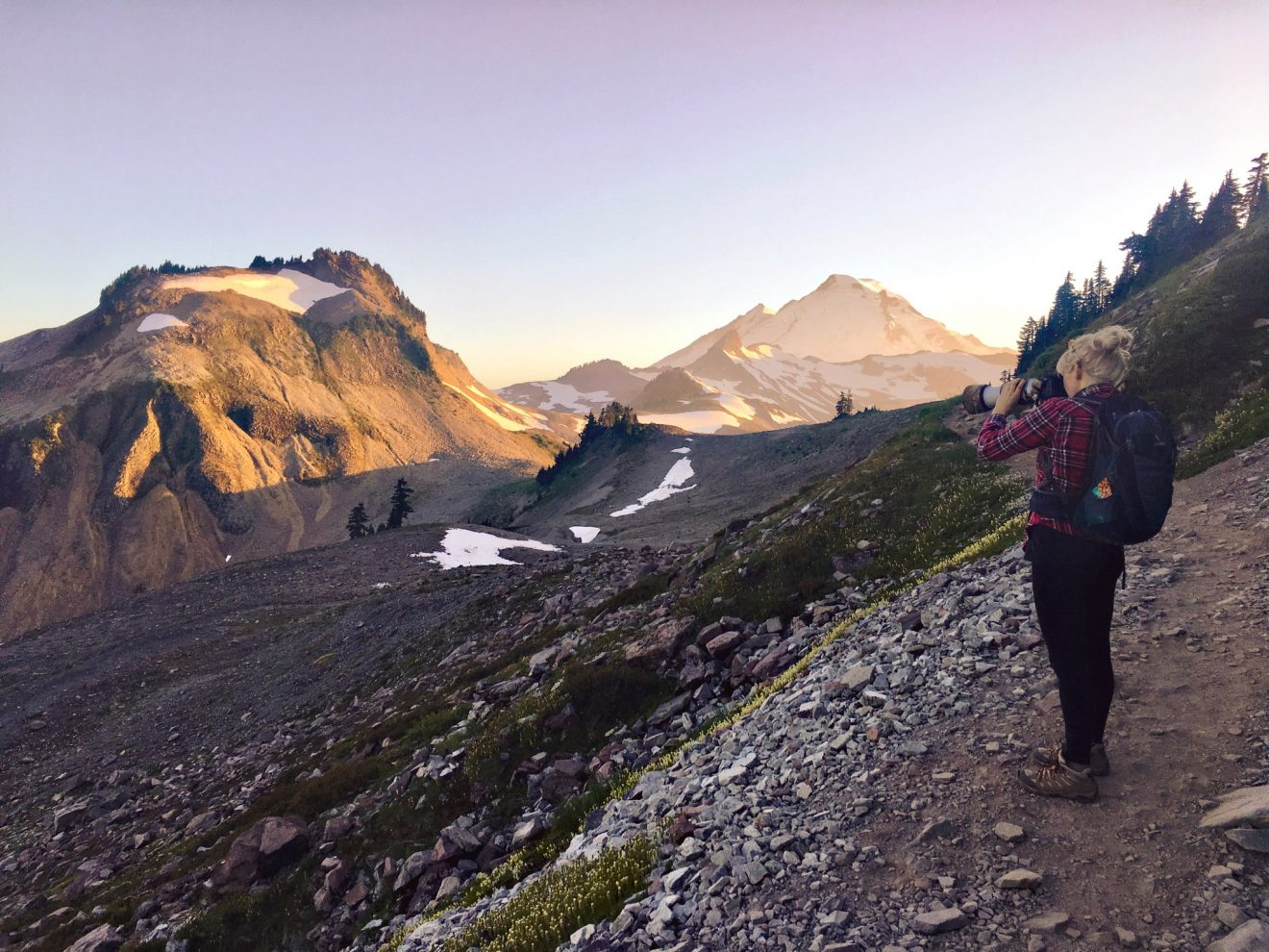 Chain Lakes Loop and Ptarmigan Trail near Mount Baker in Washington