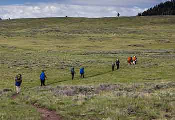 Yellowstone Spring Trekking Difficulty Pic