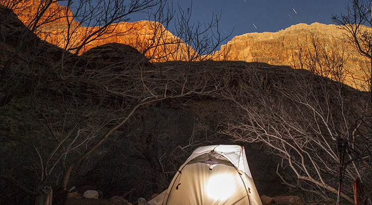 backpacking campsites