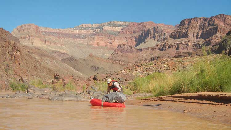 Pack Rafter on Colorado River