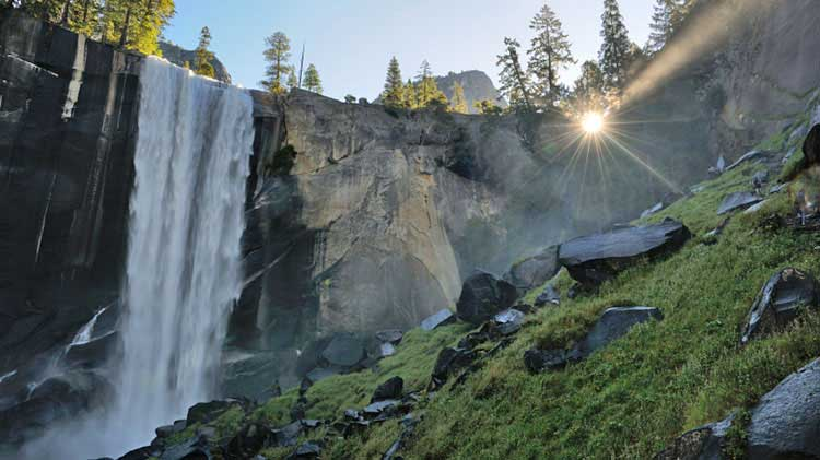 Vernal and Nevada Falls