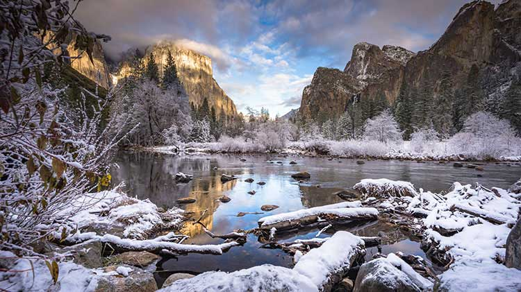 Yosemite in Winter Inn-based Tour